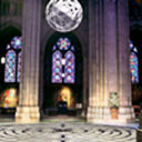 Bay at St. John the Divine Showing proposed suspended Millennium Sphere